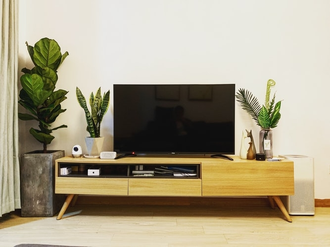TV on a TV stand