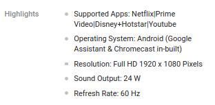 built-in chromecast for realme tv on flipkart